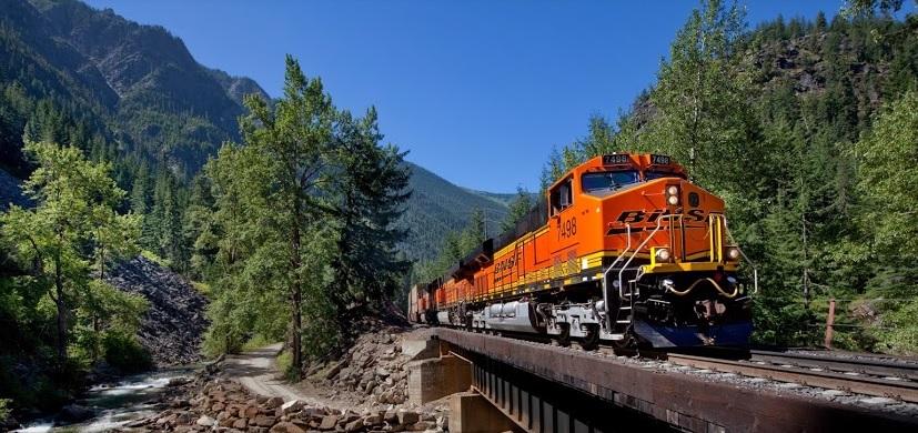 Das Eisenbahnunternehmen BNSF Railway Company.