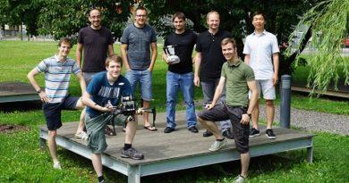 """Die """"Graz Griffins"""", allesamt Studenten an der TU Graz, stehen im Finale der weltweiten """"DJI Developer Challenge"""". © ICG - TU Graz"""