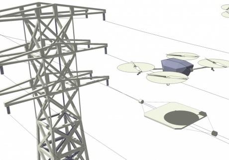 Drohne kann sich drahtlos aufladen (Foto: Imperial College London)