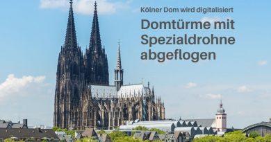 Drohne inspiziert Kölner Dom