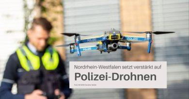 Polizeidrohnen im Einsatz. Foto: IM NRW / Caroline Seidel