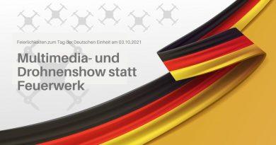 Drohnenshow zum Tag der Deutschen Einheit