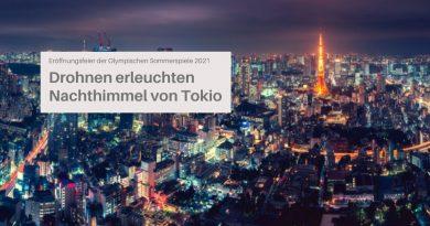 Drohnenshow Olympische Sommerspiele in Tokio