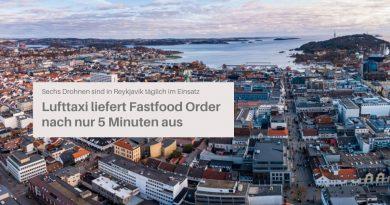 Fastfood-Lieferung in Reykjavik