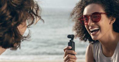 DJI Osmo Pocket Gimbal mit integrierter Kamera im Taschenformat