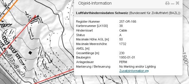 Interaktive Karte zeigt Hindernisse für Drohnen (Quelle: Bundesamt für Zivilluftfahrt BAZL)