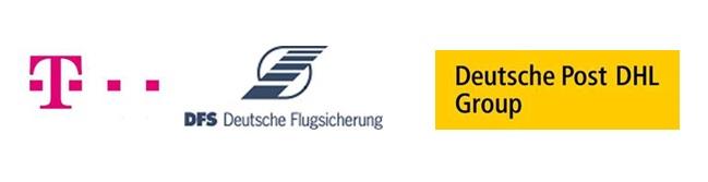 Kooperation zwischen DFS Deutsche Flugsicherung, Deutsche Post DHL Group und Deutsche Telekom für ein gemeinsames Drohnenforschungsprojekt.