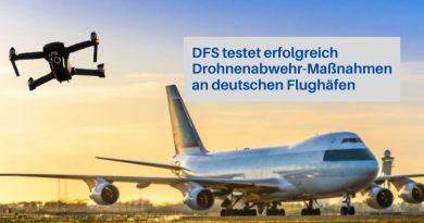 DFS testet neue Drohnenabwehrmaßnahmen an Flughäfen