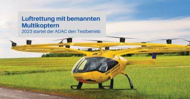 ADAC Luftrettung per Multikopter. Foto: ADAC Presse