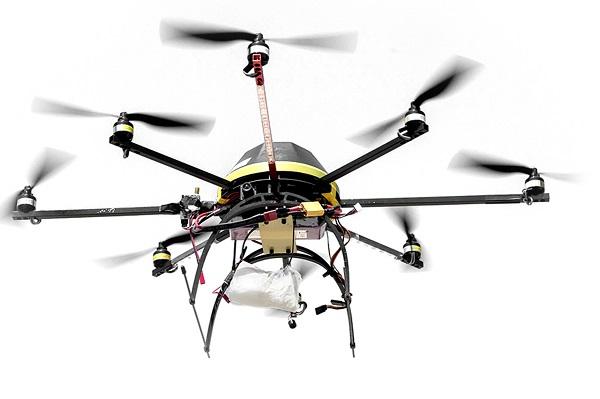 Multicopter beim Schmuggeln von Drogen (Foto: Dedrone)