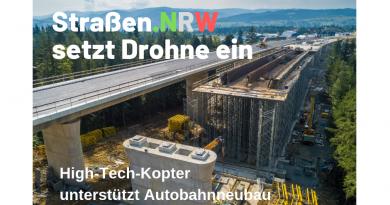 Straßen.NRW setzt Drohne ein