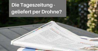 Tageszeitung geliefert von einer Drohne?
