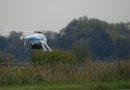 Drohne sucht perfekten Landeplatz für Hubschrauber