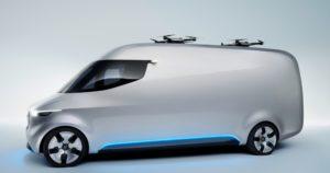 Der Vision Van von Mercedes-Benz mit Drohnen von Matternet (Foto: Matternet)