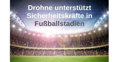 Drohne Blue Jay soll Sicherheit in Fußballstadien verbessern