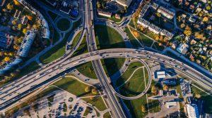 Drohnen im Polizeieinsatz - hier mit Blick auf ein Autobahnkreuz